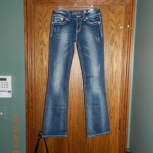 Women's Miss Me Boot JP5501446 Blue Jeans